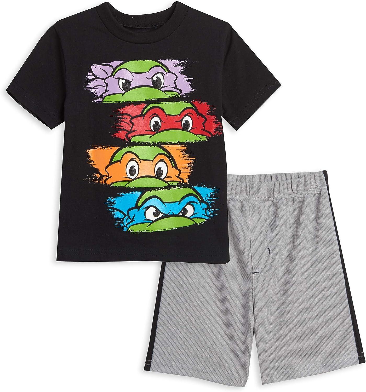 Nickelodeon Teenage Mutant OFFicial Over item handling site Ninja Turtles T-Shirt Shorts Bl Set