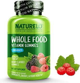 NATURELO Whole Food Vitamin Gummies for Adults - Chewable Gummy Multivitamin for Men & Women - 120 Vegan Gummies