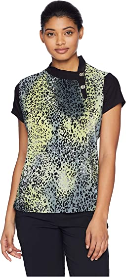 Crunchy Leopard Print Short Sleeve Top