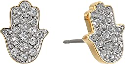 Swarovski - Hamsa Hand Pierced Earrings