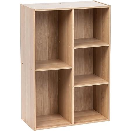 Marque Amazon - Movian 531511 Étagère de rangement 5 casiers en bois MDF, Engineered Wood, Chêne Clair, CX-23C