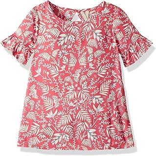 Girls' Sea Oxygen Print Ruffle Sleeve Dress