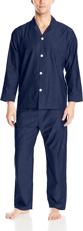 Geoffrey Beene Men's Striped Broadcloth Pajama Set at  Men's Clothing store