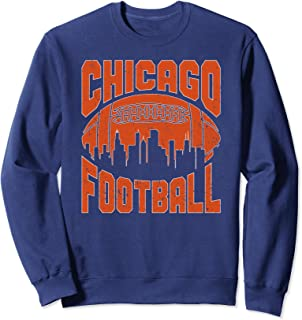 Chicago Football Skyline   Vintage Illinois Bear Gift Sweatshirt