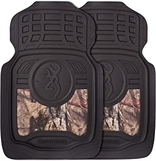 Browning Front Floor Mats, Nonslip Durable Rubber Mats, Set of 2