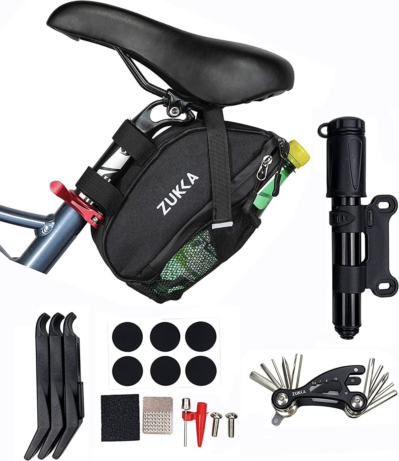SEAL limited product MEGHNA Bike Seat Bag Kit Mul Includes For Bicycle Frame OFFicial mail order