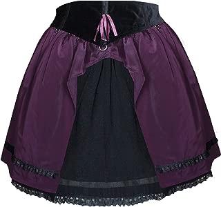 Victorian Gothic Steampunk Punk Emo Swing 50's Lolita Skirt Purple Black M-L