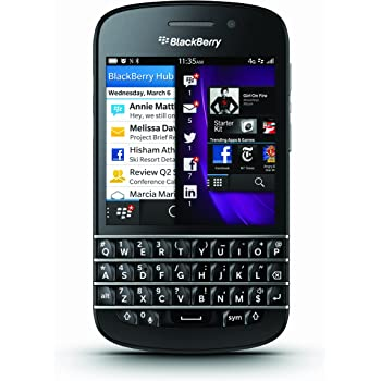 BLACKBERRY Q10 16GB BLACK QWERTY KEYBOARD TOUCH FACTORY UNLOCKED MODEL NO : RFN81UW (2G & 3G 800/850/900/1900/2100 & 4G LTE 800/900/1800/2600)