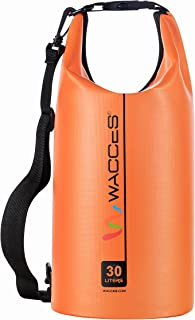 Wacces Heavy Duty Durable Waterproof Dry Bag for Kayaking, Rafting, Boating, Swimming, Hiking