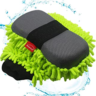 Konpard Ultimate Car Wash Mitt - 2 Pack - Premium Chenille Microfiber Wash Mitt - Wash Sponge - Wash Glove - Lint Free - Scratch Free