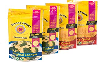 Beyond Better Cashew Cheese Alternative - 4 Pack Bundle {2 Original + 2 Spicy Queso}