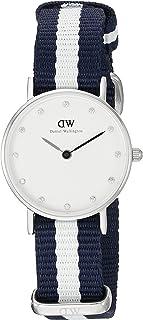 Daniel Wellington 丹尼尔•惠灵顿 瑞典品牌 摩登系列 石英女士手表 尼龙表带 镶钻手表