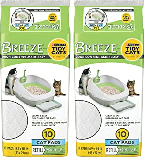 Tidy Cats BREEZE Cat Pads Refill Pack - 10 ct. Pouch - 2 Pouches