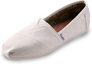 HSYZZY Women's Canvas Shoes Slip-on Ballet Flats Classic Casual Sneakers Daily Loafers