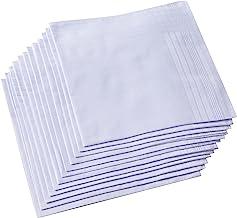 Men's Pure White 100% Cotton Handkerchief