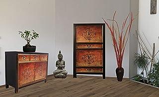 OPIUM OUTLET - Combinación de armario chino y cómoda de boda aparador estilo colonial estilo Shabby Chic varios diseños