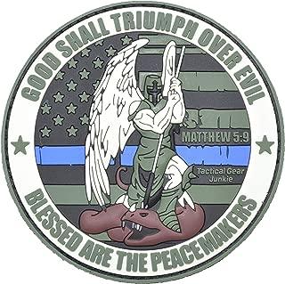 SWAT Subdued Good Shall Triumph Over Evil St 3 PVC Patch Thin Blue Line Michael