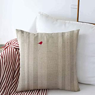 Starolal Throw Pillows Cover 18 x 18 Inches One Gray Winter Aspen Birdie Little Red Perches Abstract Tree Nature Forest Bark Bird Cardinal Woods Cushion Case Cotton Linen for Fall Home Decor