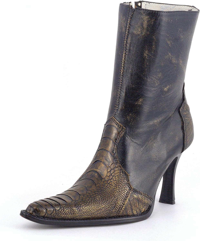 Los Altos boots Women Luxury Ostrich Leg Leather Dress Boot shoes