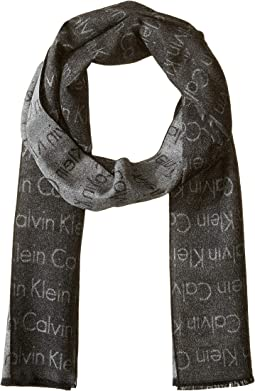 Woven All Over Logo Stripe Scarf