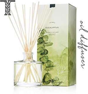 Thymes - Eucalyptus Aromatic Oil Reed Diffuser - Gift Set with Premium Sticks, Glass Bottle and Scented Oil - 6.5 oz