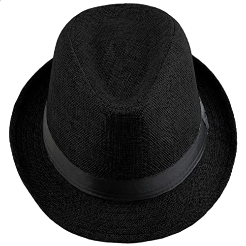 36ff768a1ba5b Shanxing Fedora Hats for Men Trilby Hat Panama Style Summer Beach Sun Jazz  Cap