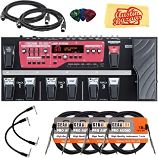 Boss RC-300 Loop Station Bundle with Power Supply, XLR Cable, 2 Patch Cables, 2 Instrument Cables, 2 MIDI Cables, Tuner, Picks, and Austin Bazaar