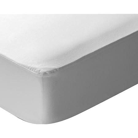 Protector de Colch/ón Impermeable Dreams 135x190//200cm Cubre Colch/ón Transpirable Cama 135cm - Color Blanco Easycosy