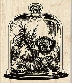 Inkadinkado Wood Stamp, Glassed Pumpkin Patch