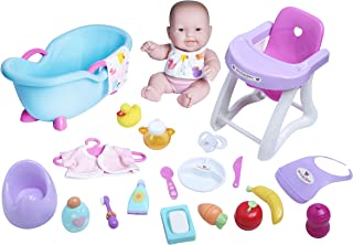 """JC Toys - Lots to Love Babies 10"""" Deluxe Gift Set   All Vinyl Washable Doll   25 Piece Nursery + Bath + Feeding Value Set ..."""
