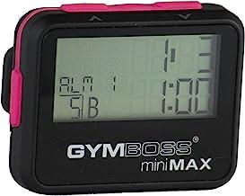 Gymboss Minimax intervaltijdgever en stopwatch zwart-roze zachte coating