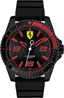 Ferrari Black Dial Black Silicone Watch For Men, 0830465
