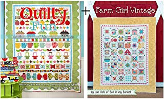 2 Books by Lori Holt of Bee in My Bonnet: Farm Girl Vintage PLUS Quilty Fun: Lessons in Scrappy Patchwork