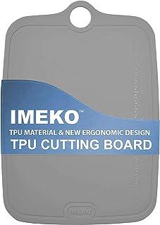 IMEKO TPU Cutting Board BPA FREE Knife Friendly Flexible Dishwasher Friendly Space Saving Ergonomic Design Chopping Mat (G...