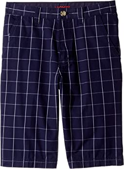 Windowpane Check Bermuda Shorts (Little Kids/Big Kids)