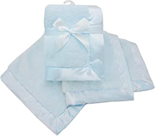 American Baby Company Sherpa Receiving Blanket, Blue, for Boys and Girls