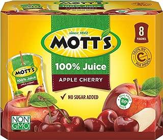 Mott's 100% Apple Cherry Juice, 6.75 Fluid Ounce Pouch, 8 Count (Pack of 4)