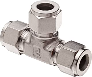Parker A-Lok 4ET4-316 316 Stainless Steel Compression Tube Fitting, Tee, 1/4
