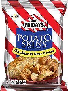 TGI Friday's, Potato Skins Snack Chips, Cheddar & Sour Cream, 3.0 oz. (6 Count)