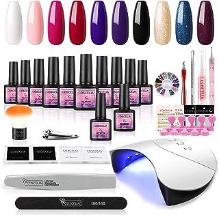 Coscelia UV Nagellak Gel Set 10 st UV Gel Vernissen Kleur Gel Nagel Set 36 W UV + LED Nagel Lamp Gel Vernis Starter Set So...