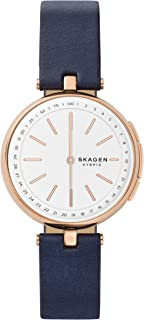 Skagen Connected SKT1412 - Reloj inteligente híbrido para mujer, acero inoxidable y piel, color oro rosa, color azul