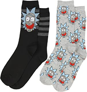 Rick And Morty Rick Sanchez 2 Pack Men's Casual Crew Socks