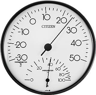 シチズン 温度計 ? 湿度計 アナログ 掛け タイプ TM109 白 CITIZEN 9CZ057-003