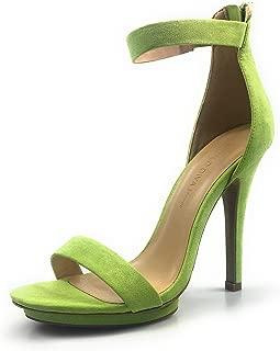 Amy-01 Womens Open Toe Ankle Strap High Stiletto Heel Platform Pump Sandal