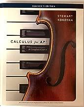 Calculus for AP : A Complete Course. Teacher's Edition