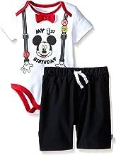 Disney Baby Boys' Mickey Mouse First Birthday Short Set