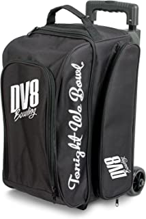 DV8 Freestyle Double Roller Bowling Bag, Black