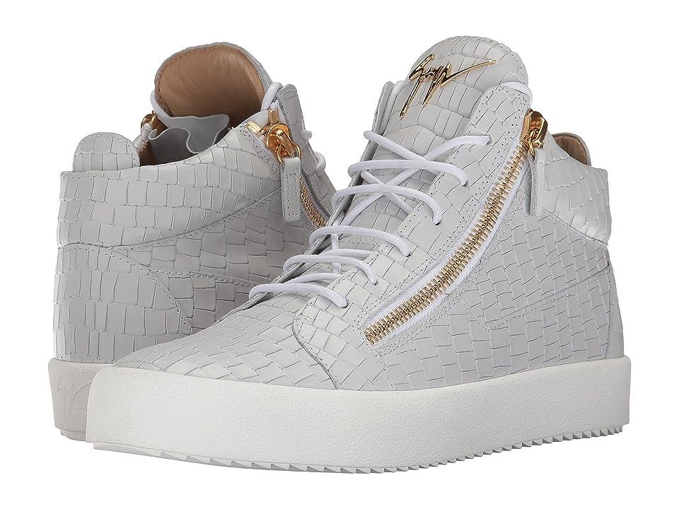 b8caf8452b9a Giuseppe Zanotti May London Mid Top Zayn Sneaker (White) Men