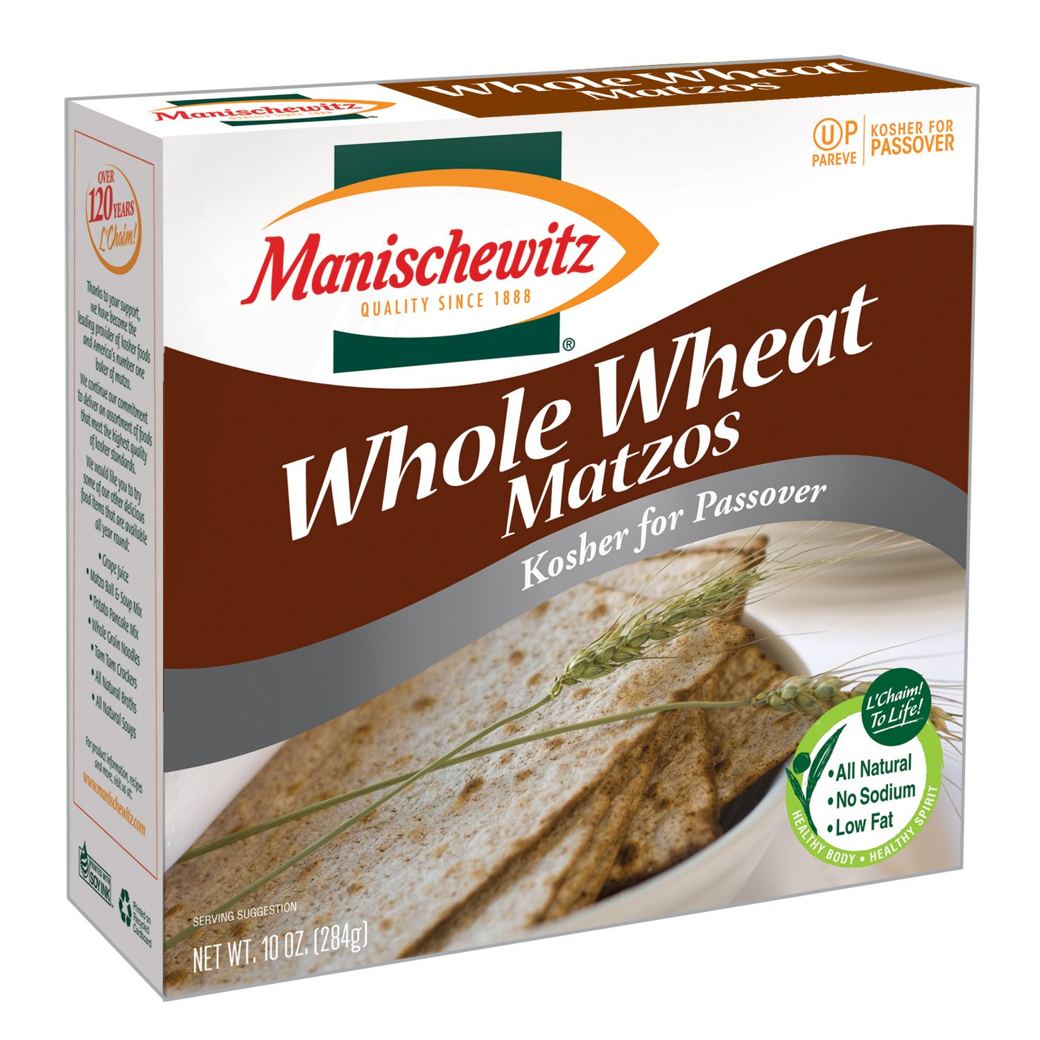 Manischewitz Passover Whole Wheat Matzo Ounce Store of Boxes Genuine Free Shipping 10 Pack