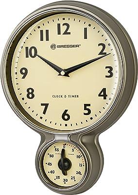 Bresser MyTime Stainless Steel Retro Kitchen Clock & Timer
